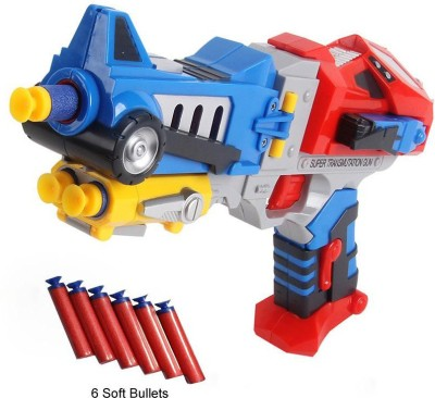 Krypton Transformers Optimus Prime Soft Bullet Blaster Super Transmutation Gun Battle
