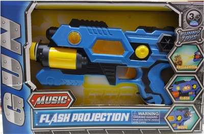 AS Gun with Music & Flash Projection(Blue)