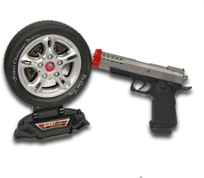Dinoimpex Battery operated Gun with laser target(Black)