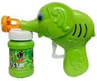 Adiestore Hand Pressing Bubble Making Toy Gun (Color and Design May Vary)(Green)