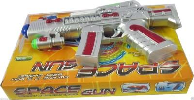 Smiles Creation Space Gun Toy with LED Matrix Flashing Rotating Blades