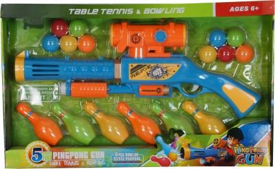 Toyhut Bowling & Table Tennis Ping Pong Gun