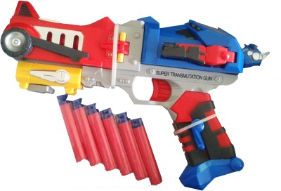 Vaibhav Transformers Optimus Prime Soft Bullet Blaster Super Transmutation Gun