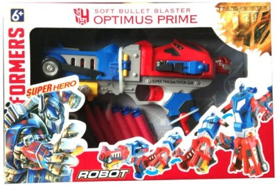 Vaibhav Transformers Optimus Prime Soft Bullet Blaster Gun - Robot
