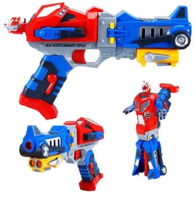 Vaibhav Super Transmutation Gun - Soft Bullet Blaster Optimus Prime Gun To Robot