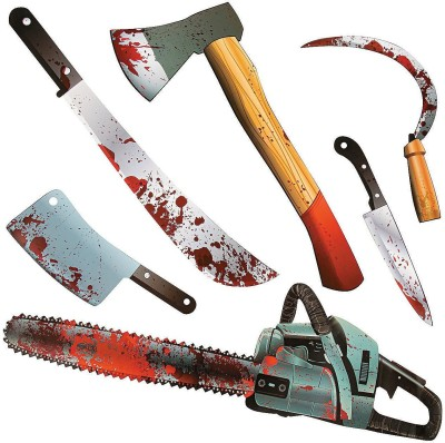 Fun Express Paper Halloween Bloody Weapon Party Cutouts(Multicolor)