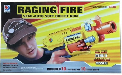 Turban Toys Raging Fire Semi Auto Soft Bullet Gun
