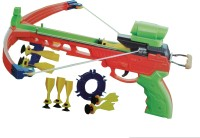 Vaibhav Shooting Crossbow Arrows Gun Set w/ Target Pratice(Orange, Green)