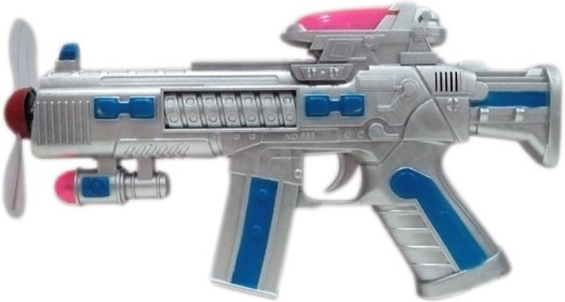 Parteet Space Gun with Flashing Lights and Sound(Silver)