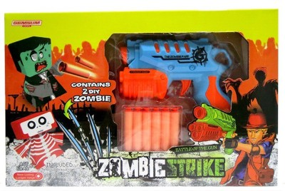 Toys Bhoomi Rapid Fire Soft Bullet Gun With 2 Zombie Targets