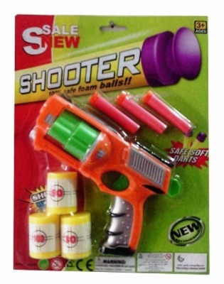Turban Toys Shooter Toy Gun with Foam Balls & Soft Darts