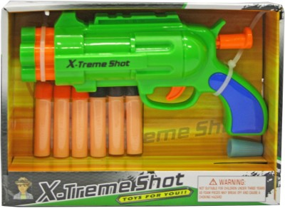 Venus-Planet of Toys X-Treme Shot Soft Dart Pistol Gun W/ 6 Target Darts