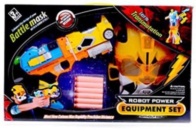 just toyz Good Quality Plastic Transformer Gun & Fighter Mask Armor Toys Set