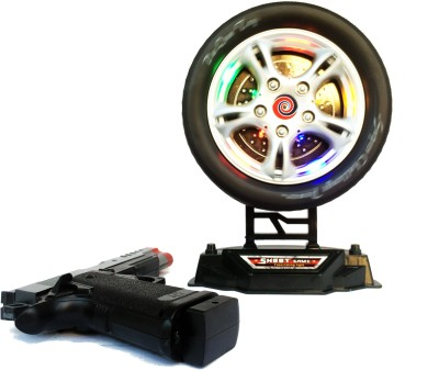 KBnBS Aim Wheel (Inbuilt Sensor) with Laser Gun Kids Toy