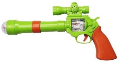 Lotus Projection Music Strike Electric Gun Toy(Multicolor)