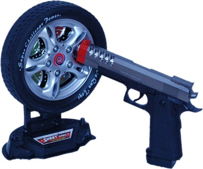 Real Deals Battery Operated Gun With Laser Target(Black)