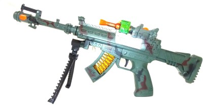 E-Toys Combat Mission Gun With Flashing Light And Sound