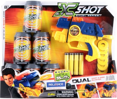 X Shots Excel Series Dual Dart And Disc Blaster