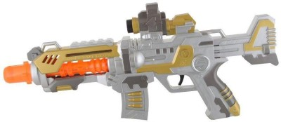Turban Toys Battery Operated Projection Machine Toy Gun with Flashing Light & sound