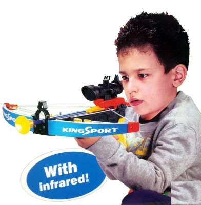 just toyz Super Action Mini Pistol Crossbow With Blunt Darts Archery Set