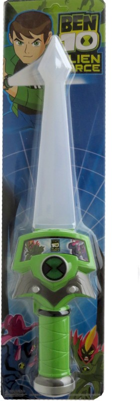 The Souq Ben 10 Audible Glowing Action Gear Omnitrix Sword Toy For Kids(Green)