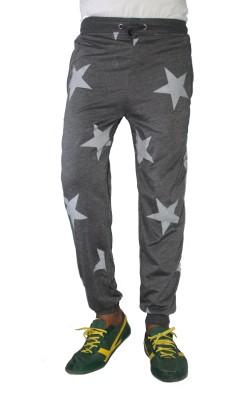 Trustedsnap Printed Men,s Grey Track Pants