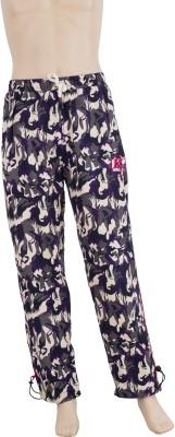 Karwan International Printed Men's Purple Track Pants
