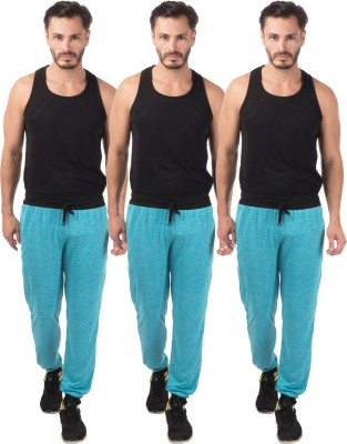 Meebaw Self Design Men's Blue, Blue, Blue Track Pants