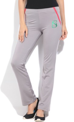 STYLE QUOTIENT BY NOI Solid Women's Grey Track Pants