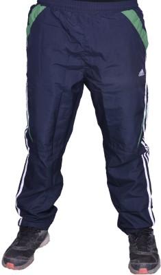 Front Look Club Solid Men's Black, Dark Green Track Pants