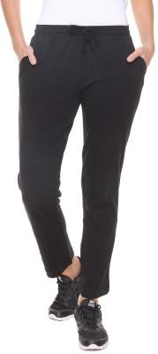 Alibi By Inmark Solid Women,s Black Track Pants
