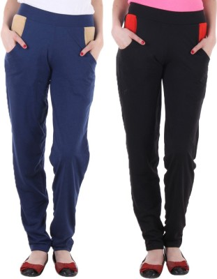 Coaster Solid Women's Blue, Black Track Pants