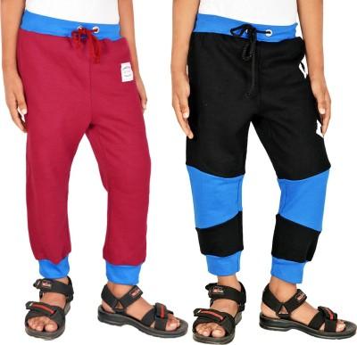 Gkidz Printed Boy,s Maroon, Black Track Pants