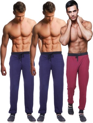 Billu Oye Solid Men's Maroon, Dark Blue, Dark Blue Track Pants