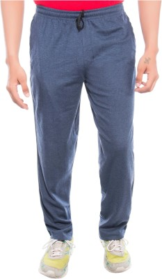 Ckl Self Design Men's Dark Blue Track Pants