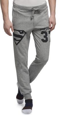 Superman Printed Men's Grey Track Pants