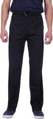 Sprig Striped, Solid Men's Black Track Pants