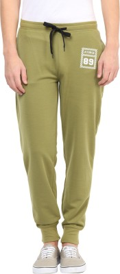 Atorse Solid Men,s Green Track Pants