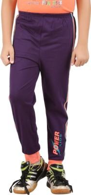 Meril Solid Boy's Purple Track Pants