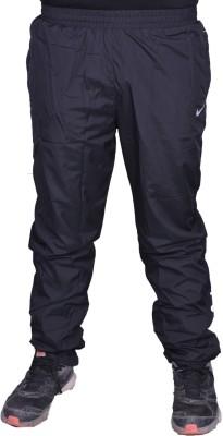 US Woodlook Nik Solid Men's Black, White Track Pants