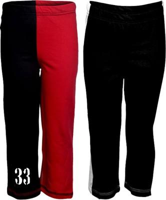 Gkidz Printed Boy,s Red, Black Track Pants