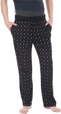 Zobello Printed Men's Grey, Black Track Pants