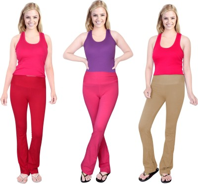 Comfty Solid Women's Multicolor Track Pants