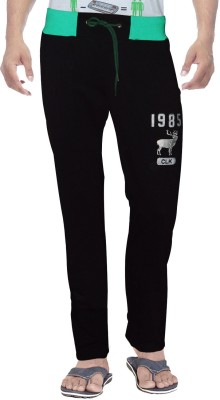 Clickroo Solid Men's Black Track Pants