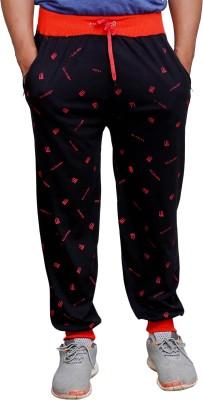 Poorvi collections Printed Men's Black Track Pants