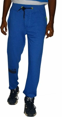 East West Solid Men,s Blue Track Pants