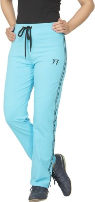 So Sweety Embroidered Women's Light Blue Track Pants