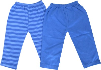 Magic Train Self Design, Striped Baby Boy's Blue, Multicolor Track Pants