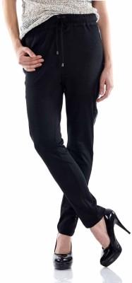 Fuziv Self Design Women's Black Track Pants
