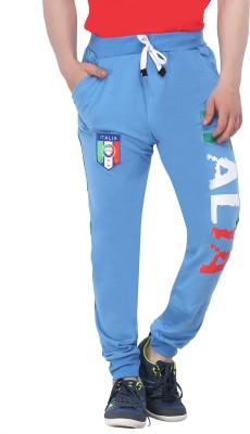 Body Tantrum Printed Men,s Blue Track Pants